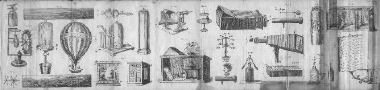 illustrated pullout from The Young Man's Book of Amusement (1854), showing various gadgets and experiments