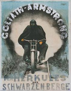 poster by Margit Doppler for Goliath Armstrong: the Hercules of the Black Mountains, 1927?