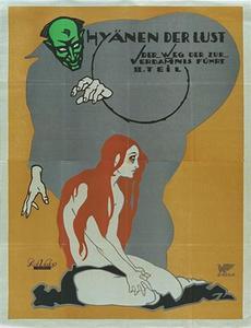 unknown artist, poster for Weg der zur Verdammnis führt, 1919